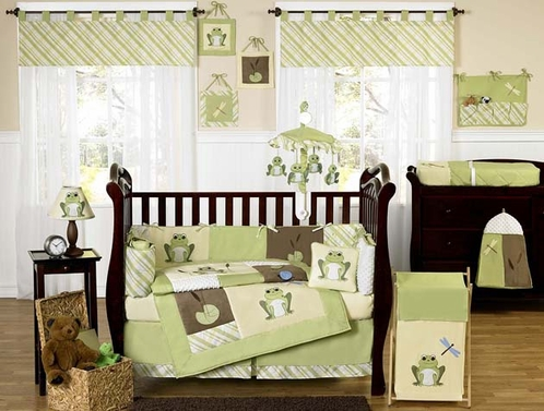 Leap Frog Baby Bedding - 9 pc Crib Set - Click to enlarge