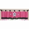 Girls Soccer Window Valance by Sweet Jojo Designs