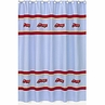 Frankie's Firetruck Kids Bathroom Fabric Bath Shower Curtain