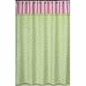 Olivia Pink and Green Kids Bathroom Fabric Bath Shower Curtain