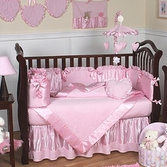 Solid Color Crib Bedding In Pink Blue Amp More