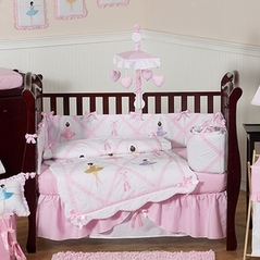 Ballet Dancer Ballerina Baby Bedding - 9 pc Crib Set