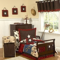 Wild West Cowboy Western Toddler Bedding - 5pc set