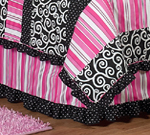 Queen Kids Childrens Bed Skirt for Madison Bedding Sets by Sweet Jojo Designs