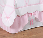 Ballet Dancer Ballerina Queen Kids Childrens Bed Skirt by Sweet Jojo Designs