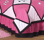 Girls Soccer Queen Kids Childrens Bed Skirt by Sweet Jojo Designs