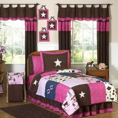 Western Horse Cowgirl Teen Bedding - 3 pc Full / Queen Set