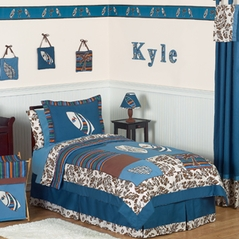 Tropical Hawaiian Kids Bedding - 4pc Boys Surf Twin Set