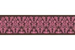 Pink and Brown Bella Damask Baby and Kids Wall Border by Sweet Jojo Designs