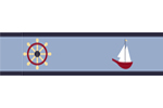 Come Sail Away Nautical Baby and Kids Wall Border by Sweet Jojo Designs