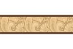 Camel and Chocolate Paisley Baby and Kids Wall Border by Sweet Jojo Designs