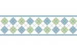 Blue and Green Argyle Baby and Kids Wall Border by Sweet Jojo Designs