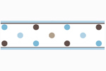 Blue and Brown Mod Dots Baby and Childrens Polka Dot Wall Border by Sweet Jojo Designs