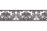 Pink and Black Sophia Baby, Kids and Teens Wall Paper Border by Sweet Jojo Designs