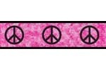 Pink Groovy Peace Sign Tie Dye Kids and Teens Wall Paper Border by Sweet Jojo Designs