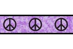Purple Groovy Peace Sign Tie Dye Kids and Teens Wall Paper Border by Sweet Jojo Designs