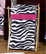 Baby and Kids Funky Zebra Clothes Laundry Hamper by Sweet Jojo Designs