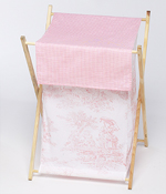 Baby and Kids Clothes Laundry Hamper for Pink French Toile Bedding