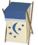Baby and Kids Clothes Laundry Hamper for Stars and Moons Bedding