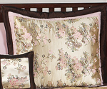 Abby Rose Pink and Brown Pillow Sham