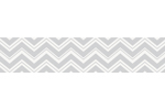 Black and Gray Chevron Zig Zag Baby and Kids Modern Wall Border by Sweet Jojo Designs