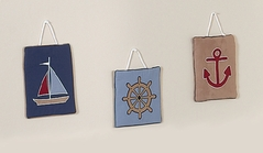 Nautical Nights Sailboat Wall Hanging Accessories by Sweet Jojo Designs