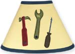 Construction Zone Lamp Shade by Sweet Jojo Designs