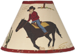 Wild West Cowboy Western Horse Lamp Shade by Sweet Jojo Designs