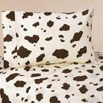 3 pc Twin Sheet Set for Western Cowgirl  Bedding Collection - Cow Print