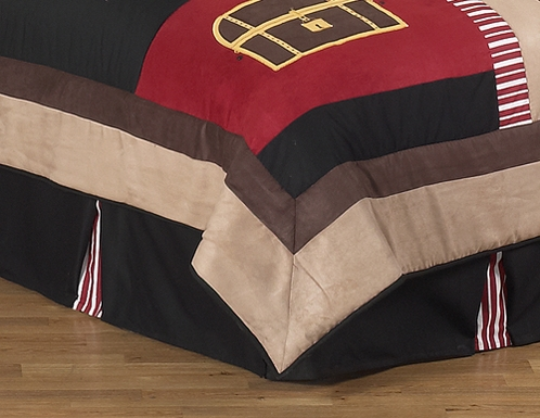 Treasure Cove Pirate Queen Kids Childrens Bed Skirt by Sweet Jojo Designs - Click to enlarge
