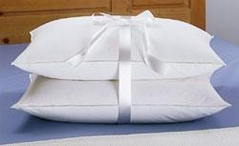 Standard Size Set of 2 White Goose Feather and Down Pillows