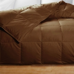 Queen Chocolate Feather Down Comforter