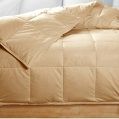 King Golden Beige Feather Down Comforter