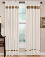 White and Taupe Spa Collection Window Treatment - Set of 2