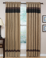 Black - Jacaranda Collection Microsuede Window Treatments - Set of 2