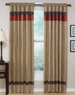 Red - Jacaranda Collection Microsuede Window Treatments - Set of 2