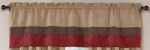 Brick Red - Jacaranda Collection - Microsuede Valance Window Treatment