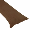 Chocolate Brown Full Length Microsuede Double Zippered Body Pillow Case Cover