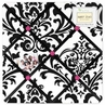 Hot Pink, Black and White Isabella Fabric Memory/Memo Photo Bulletin Board