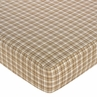 Construction Zone Fitted Crib Sheet for Baby and Toddler Bedding Sets by Sweet Jojo Designs - Plaid Print