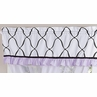 Purple, Black and White Princess Girls Window Valance by Sweet Jojo Designs