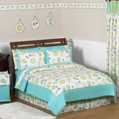 Turquoise and Lime Layla Girls Kids & Teen Bedding - 4pc Twin Set