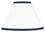 White and Navy Modern Hotel Lamp Shade by Sweet Jojo Designs