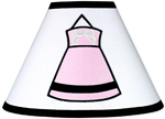 Pink, Black and White Princess Lamp Shade by Sweet Jojo Designs