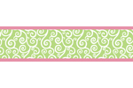 Olivia Pink and Green Children and Kids Wall Border by Sweet Jojo Designs