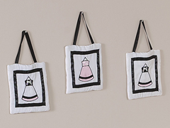 Pink, Black and White Princess Wall Hanging Accessories by Sweet Jojo Designs
