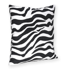 Zebra Print Accent Pillow for Turquoise Zebra Bedding Set