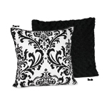 Black and White Isabella Decorative Accent Throw Pillow