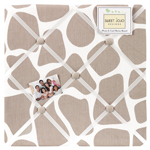 Giraffe Fabric Memory/Memo Photo Bulletin Board by Sweet Jojo Designs