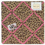 Cheetah Girl Pink and Brown Fabric Memory/Memo Photo Bulletin Board